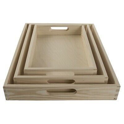 1/2/Set Wooden Serving Tray in 3 Sizes/ Tea Breakfast Kitchen Platter /Decoupage