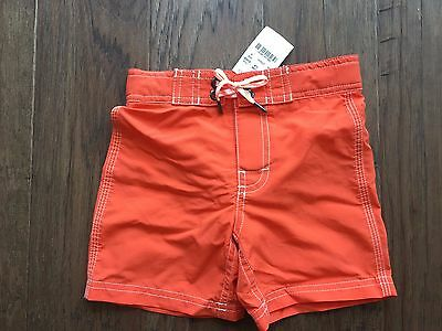 New w/TAGS (NWT) J. Crew Crewcuts Boys Solid Orange Board Short Size 2T