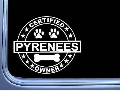 """Certified Great Pyrenees L313 Dog Sticker 6"""" decal"""