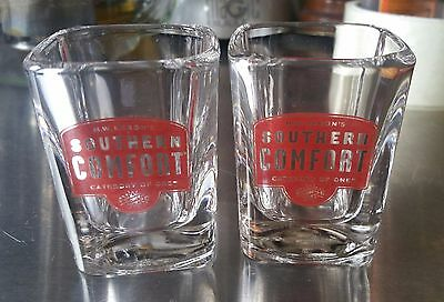 2 Southern Comfort Whiskey Shot Glasses Hard To Find Style