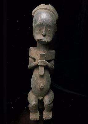 Old  Tribal Fang Reliquary Figure    ---  Gabon