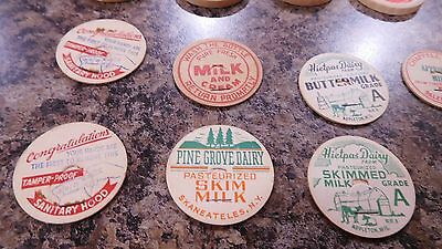 Vintage milk bottle caps LOT OF 18 DIFFERENT  unused new old stock