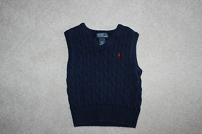 Polo Ralph Lauren Toddler Size 2t Sweater Vest - Navy