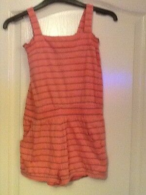 F&F girls striped pink playsuit Age 10-11 yrs
