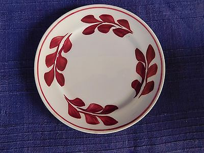 Blue Ridge Red Leaf BREAD PLATE have 100's more Southern Pottery items