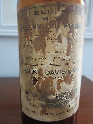 Cocaine Bottle ~ Parke Davis ~ Apothecary Pharmacy Narcotic Jar Coca Extract