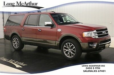 2017 Ford Expedition EL KING RANCH 4X4 NAV SUNROOF MSRP $71915 4WD 7 PASSENGER SUV HEADREST DVD ENTERTAINMENT