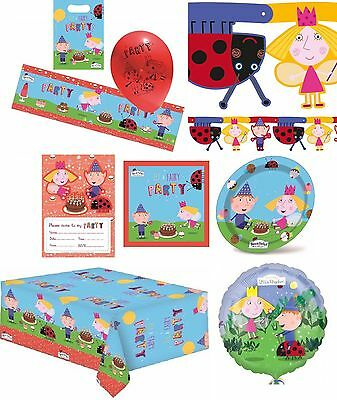 Ben and Holly Birthday Party Banner Balloons Bunting Napkins Lootbags Tablecover