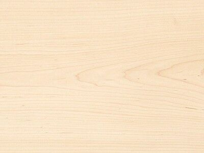 "White Maple Veneer Plain Sliced Wood on Wood Backer Backing 2' X 2' (24"" x 24"")"