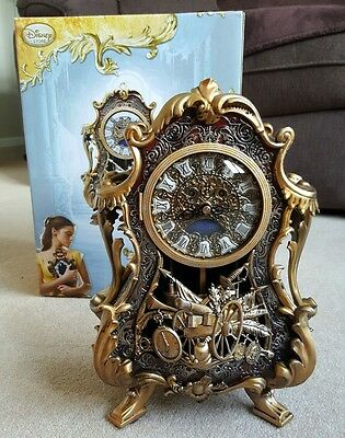 Disney Store Cogsworth Limited Edition Clock Beauty and the Beast SOLD OUT