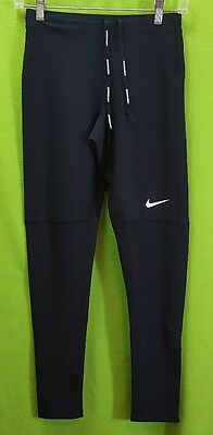 "*NEW* Men's NIKE RUNNING DRI-FIT ""FILAMENT"" Black Running Leggings Small NWOT"