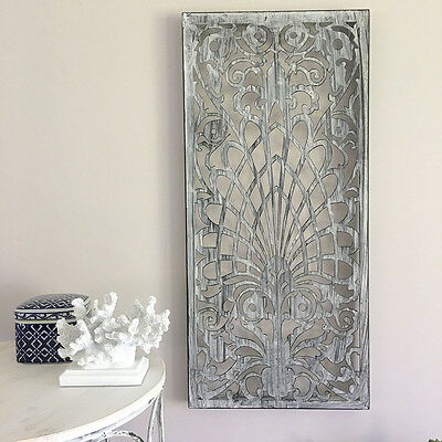 Rectangle Grey Metal Wall Panel/Garden Art/Screen/Wall Decor Sculpture Outdoor