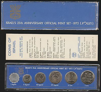 Israel, 25th Anniversary Official Mint Set, 1973