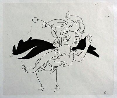 S691. VINTAGE: Peter Pan & The Pirates TINKERBELL Original Animation Cel (1990)~
