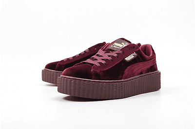 timeless design 1ec59 01f91 PUMA X RIHANNA Velvet CREEPER FENTY Burgundy Royal Purple Maroon Red  364466-02