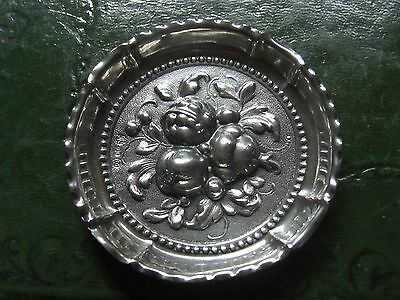Stunning Antique .800 Silver German Schlingloff Repousee Nut Dish