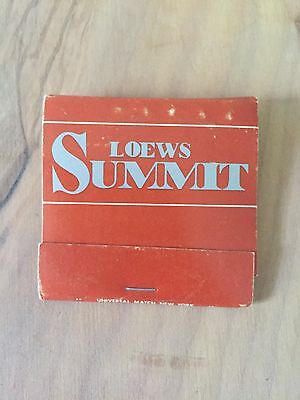 Lowe's Summit Hotel vintage matchbook New York city