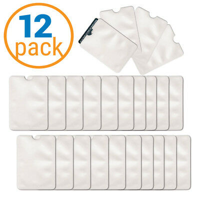 12 Pack RFID Blocking Credit Card Sleeve - Anti Theft RFID Credit Card Protector