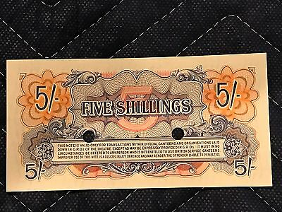 British Armed Services Five Shillings Note  Great Condition