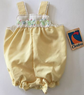 "Vintage Carters Romper Yellow Spring Floral Outfit Jumper 3 Month Old "" NWT"""