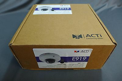 ACTi E919 3MP Outdoor Mini Fisheye Dome with Superior WDR, Fixed Lens