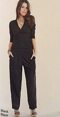 New with Tags Black Cotton Luna Luz Pull On Pant size M