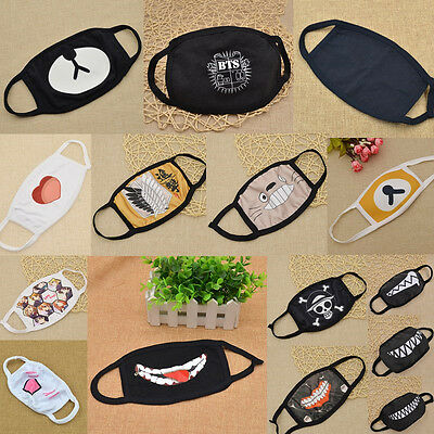 Variety Mouth Face Mask Cover Respirator Cycling Anti-Dust Anime EXO Apes Emoji