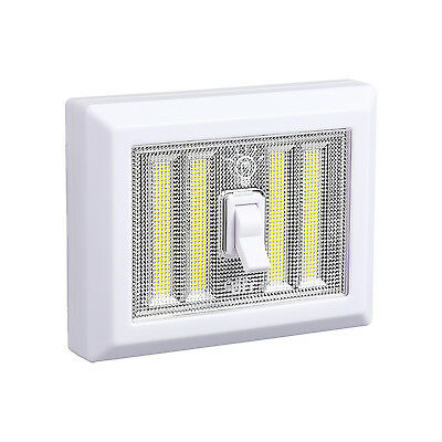 Battery Operated 4 COB LED Cordless Light Switch, Mount in Bedroom, Closets