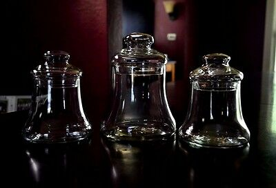 Vintage Glass Bells Apothecary Or Candy Jars Wedding Buffet Jars Displays