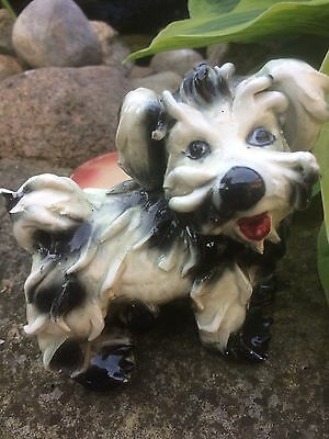 Vintage Spaghetti Scottie Dog Planter Ceramic Art Pottery Made In ITALY