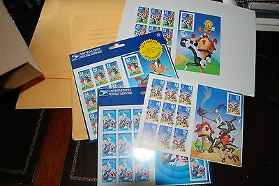 USPS Stamps That's all folks Daffy Tweety Looney Tunes E#17