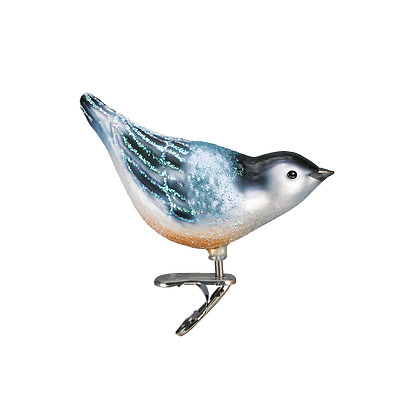 Nuthatch Old World Christmas Tree Ornament NWT mouth blown glass