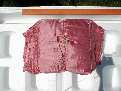 VINTAGE 1920'S LACE BOUDOIR EMBROIDERED PILLOW - SQUARE SHAPE (c) SLIP COVER