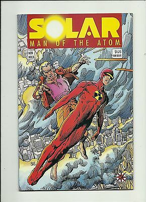 "Solar Man Of The Atom #3 1991 Valiant/ Acclaim Comics  1St ""harbinger"" Bonus #4"