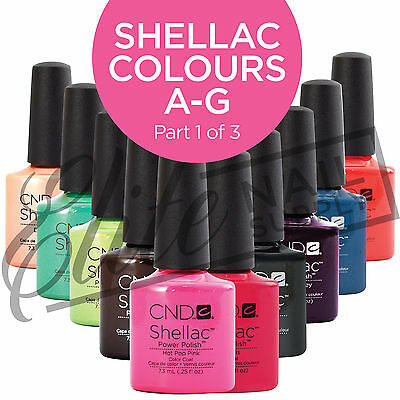 CND SHELLAC Color Coat 7.3ml - Colours  A - G  (Part 1 of 3)