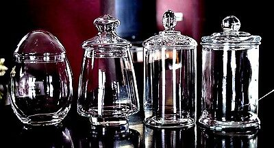 4-Glass Apothecary Or Candy Jars Wedding Buffet Jars Displays- Candy Table