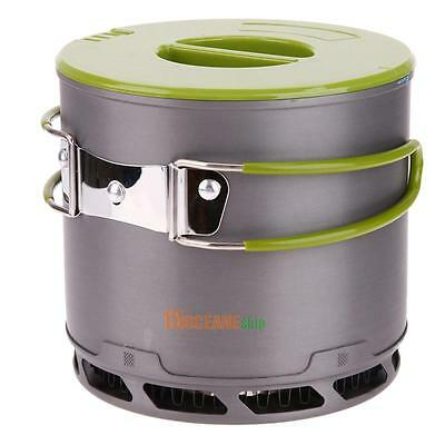 1pc 1.2L Outdoor Portable Heat Collecting Exchanger Camping Pot Camping Cookware