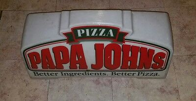 Papa Johns Delivery Lighted sign car magnetic