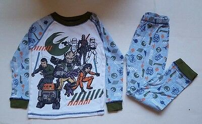 Disney Store Star Wars Boy's Long Sleeve Pant Pajama Sets Size 6