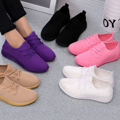 US Women Casual Running Sport Fashion Walking Athletic Sneakers Breathable Shoes