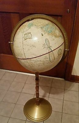 "Globe THE GEORGE CRAM COMPANY 16"" GLOBE ON STAND"