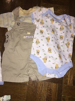 POOH lot 3 months overall set and onzie