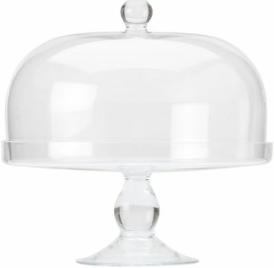 Maxwell & Williams Diamante Glass Cake Stand With Dome - 30cm