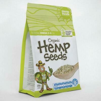 Hemp Seeds Organic Hulled 250g Australian Made Certified GMO FREE Paleo