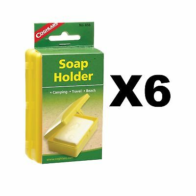 Coghlan's Soap Holder Camping Travel Plastic Caddy Box Unbreakable (6-Pack)