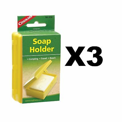 Coghlan's Soap Holder Camping Travel Plastic Caddy Box Unbreakable (3-Pack)