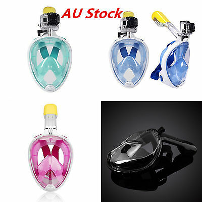 Snorkeling Mask Full Face Scuba Diving Swimming Snorkel Breather Pipe for Gopro