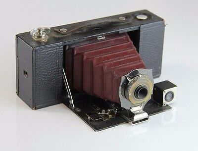 Kodak Pocket Brownie Camera - With Red Bellows! (1912 or earlier model!)