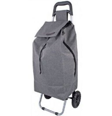 New D.line Sprint Shopping Trolley Charcoal Grey Compartment Lightweight Bag
