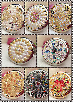 Compact Pocket Handbag Mirror Metal Makeup Birthday Wedding Travel Gift for she